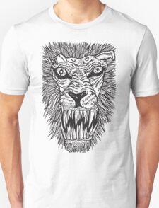 Monster Mondays #2 - Lionel Lion - Anger Monster! - BLACK LINES T-Shirt