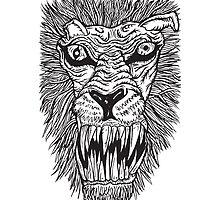 Monster Mondays #2 - Lionel Lion - Anger Monster! - BLACK LINES by monstermondays