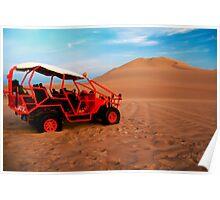 Dune buggy in Peruvian desert Poster