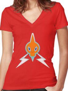 Pokemon - Rotom  Women's Fitted V-Neck T-Shirt