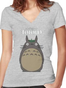 My Neighbor Totoro Women's Fitted V-Neck T-Shirt