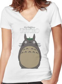 My Neighbor Totoro Women's Fitted V-Neck T-Shirt