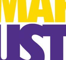 Work Smart Hustle Hard- Lakers Sticker