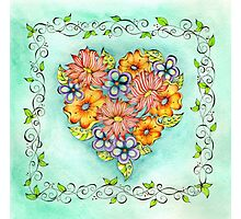 Flower Heart Photographic Print