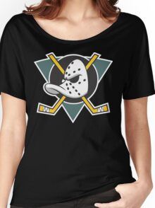 Mighty Ducks of Anaheim NHL Hockey League  Women's Relaxed Fit T-Shirt