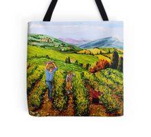 Grape harvests Tote Bag