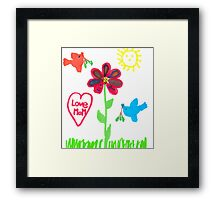 Summer scene Framed Print