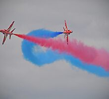 Smoke On Break ! Red Arrows - Dunsfold 2012 by Colin J Williams Photography