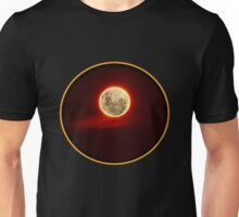 Red Moon with cloud Unisex T-Shirt