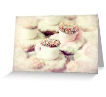little teacups Greeting Card