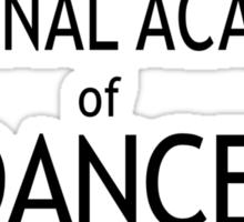 National Academy of Dance - Black Sticker