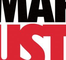 Work Smart Hustle Hard-Red Sticker