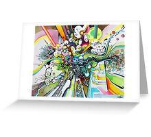 Tubes of Wonder - Abstract Watercolor + Pen Illustration Greeting Card
