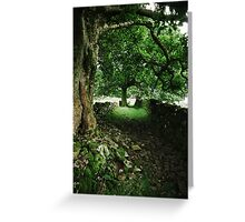 Old Country Lane Greeting Card