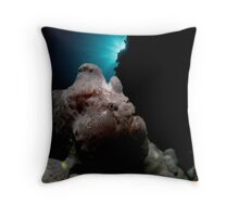 The Bold FrogFish Throw Pillow