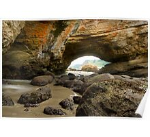 Cave at Newport, Oregon Poster