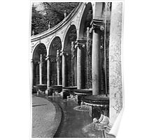 BW France palace of Versailles Colonnade Grove 1970s Poster