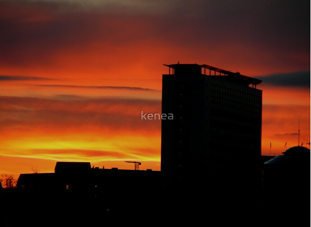 Sunset in Birmingham, UK by kenea