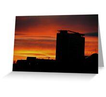 Sunset in Birmingham, UK Greeting Card