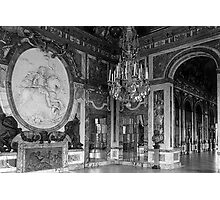 BW France palace of versailles The hall of war 1970s Photographic Print