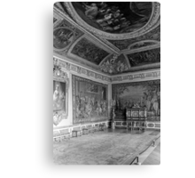 BW France palace of Versailles stade dining room 1970s Canvas Print
