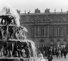 BW France palace of Versailles Pyramid fountain 1970s by blackwhitephoto