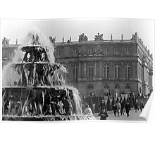 BW France palace of Versailles Pyramid fountain 1970s Poster