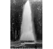 BW France palace of Versailles obelisk fontain 1970s Photographic Print