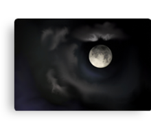 Night of the Blue Moon Canvas Print
