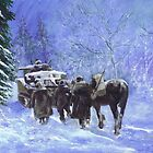 82nd Airborne Division advance winter 1944 by Phil Willetts