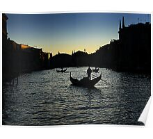 sunset on the Grand canal Poster