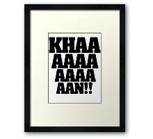KHAN! Framed Print