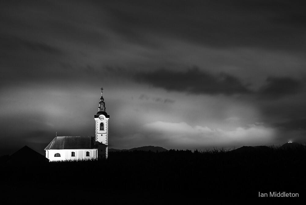 Church shining bright by Ian Middleton