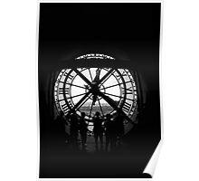 Clock BW Poster