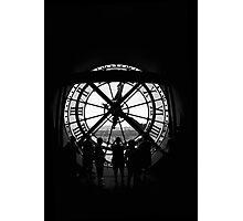 Clock BW Photographic Print