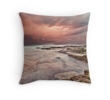 Chalky Beach Throw Pillow