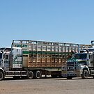 Road Trains, Burke & Wills Roadhouse, North Queensland by Adrian Paul