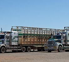 Road Trains, Burke & Wills Roadhouse, North Queensland by Adrian Paul