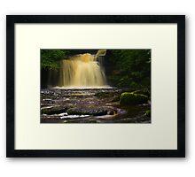 Cauldron Falls, 2 Walden Beck, North England  Framed Print