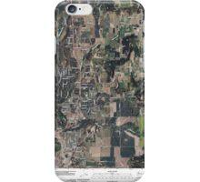 USGS Topo Map Washington State WA Mead 20110401 TM iPhone Case/Skin