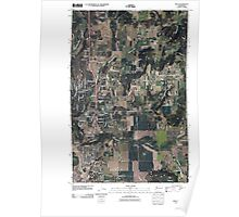 USGS Topo Map Washington State WA Mead 20110401 TM Poster