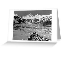 BW USA Alaska glacier bay national monument 1970s Greeting Card