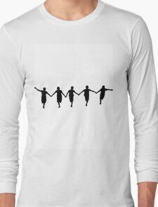 Running Happy Children Long Sleeve T-Shirt