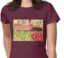 papayas and apples Womens Fitted T-Shirt
