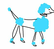 Blue Poodle by Paola Kathuria