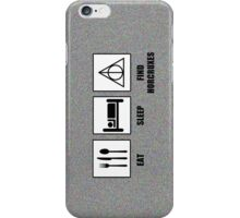 Eat Sleep Find Horcruxes iPhone Case/Skin