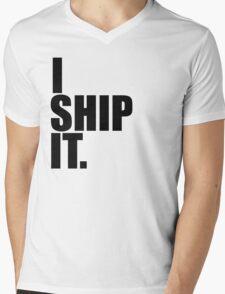 I Ship It. (black) Mens V-Neck T-Shirt