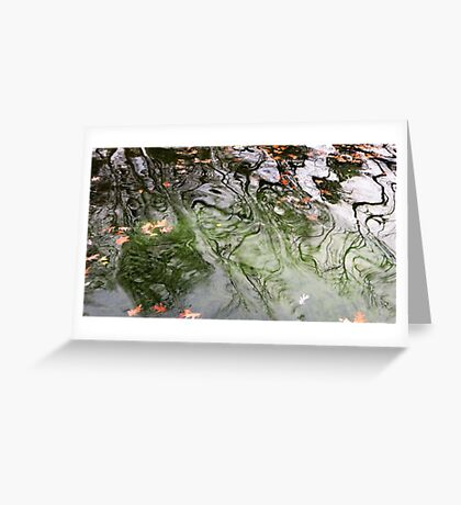 Green Water Greeting Card