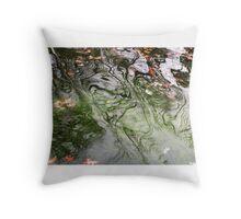 Green Water Throw Pillow