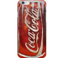 Coke Drink Can Snowy Watercolor iPhone Case/Skin